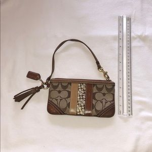 Brown/Tan Coach Wristlet